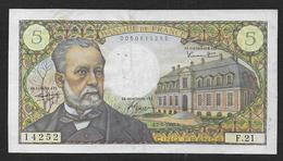 5 Fr  Pasteur  Du  7 - 7 - 1966 - 5 F 1966-1970 ''Pasteur''