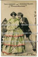 CARTOLINA TINA DE LORENZO E ARMANDO FALCONI ATTRICE ATTORE ACTRESS ACTOR VIAGGIATA ANNO 1903 - Attori
