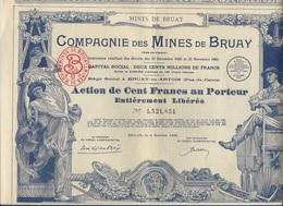 ACTION 100 FRS COMPAGNIE DES MINES DE BRUAY - ANNEE 1939 - TB - Mines