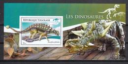 Togo 2014**, Dinosauriere, Kaktus / Togo 2014, MNH, Dinosaurs, Cactus - Sukkulenten