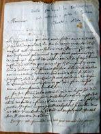 38 PONT DE BEAUVOISIN MANUSCRIT SIGNALANT L' ARRETE AUTORISANT A NOUVEAU LES ECCLESIASTIQUES A PORTER LA SOUTANE 1804 - Manuscripts