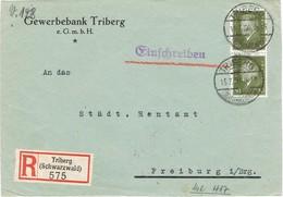 28961. Frontal Certificado TRIBERG (Alemania Reich) 1918 - Cartas