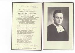 Dp 6835 - EERWAARDE BROEDER ANDREAS VICTOR - GEORGES DE SPODT - LEFFINGE 1921 + GROOT BIJGAARDEN 1949 - Devotion Images