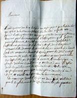 PECHE DE FORNICATION LETTRE DU VICAIRE GENERAL AU CURE BLAIN DE PONT DE BEAUVOISIN 1828 - Manuscripts