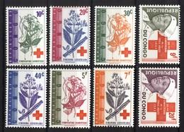 Repblique Du Congo Kinshasa 1963, Red Cross Rode Kruis Rotes Kreuz Cruz Roja Croix Rouge Nurse Plants **, MNH - Republiek Congo (1960-64)