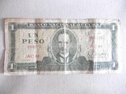 CUBA-BILLET DEUN PESO-1981-B-TRES CIRCULE - Cuba
