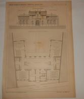 Plan De L'école Maternelle à Charenton. Seine. M. Gravereaux, Architecte. 1890 - Public Works