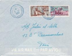 COTE FRANCAISE DES SOMALIS  : Divers Sur Lettre Pour Paris  CaD Djibouti Du 5 1 1952 - Lettres & Documents
