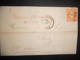 France , Lettre De Paris 1864 Pour Riez - 1862 Napoleon III