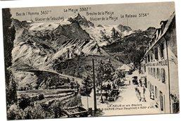 Tarjeta Postal De La Meije Et Ses Glaciers. Circulada - Otros Municipios