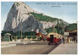 (41) Older Card With Stamp - Gibraltar View Of Rock And Border Gates (posted To Australia) - Dogana