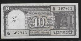 Inde - 10 Ruppees - Pick N°60 - TTB - Inde