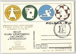 "Kartenspiele, 3 Postkarten ""50 Lat Klubu Sportowego"" 12.9.1984 (530636) - Games"