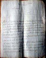 73 CHAMBERY INTERDICTION DE FAIRE GRAS LETTRE DU VICAIRE GENERAL AU CURE BLAIN DE PONT DE BEAUVOISIN 1804 - Manuscripts