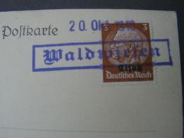 DR Elsaß Karte Waldwießen 1940 - Occupation 1938-45