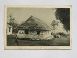 C.P.A. WALLIS LANO , Une Case Indigène Servant De Grand Séminaire - Wallis E Futuna