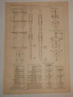 Plan Des Réservoirs D'alimentation D'eau à Paris Montmartre. 1890 - Public Works