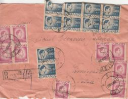 KING MICHAEL STAMPS ON REGISTERED COVER, 1947, ROMANIA - 1918-1948 Ferdinand I., Charles II & Michel