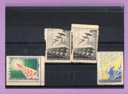 4 Francobolli Crociera Aerea Del Decennale - 1900-44 Vittorio Emanuele III
