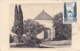 Carte-Maximum MAROC N° Yvert PA67 (MAUSOLEE LYAUTEY) Obl Sp 1948 - Marokko (1891-1956)