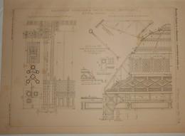 Plan De La Bibliothèque Schoelcher à Fort De France. Martinique. M. H. Picq, Archiecte. 1890 - Public Works