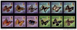 (019,20,23,24) Brunei  Butterflies / Papillons / Schmetterlinge / Vlinders / 12 Val.  ** / Mnh  Michel 775//798 - Brunei (1984-...)
