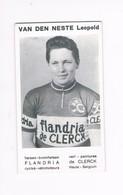 VAN DEN NESTE Leopold  Wielrenner Coureur Cycliste  Flandria - Radsport