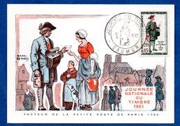 Carte Premier Jour  / Facteur De La Petite Poste De Paris 1760 / Saumur  /  18-03-1961 - Maximumkarten