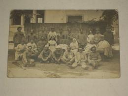 Cpa Carte Photo WW1 Hopital Temporaire Guerre Amputé Blessés - Photo Lançon Frères, Chambéry-Annecy - Savoie Hte Savoie - Guerre 1914-18