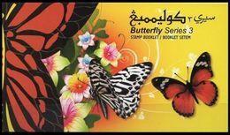 (034) Brunei  Butterflies Booklet 3 / Carnet / Heftchen / Boekje  ** / Mnh  Michel MH 787-789 - Brunei (1984-...)