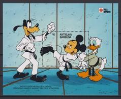 2099 Walt Disney Antigua & Barbuda ( PHILA NIPPON 1991 ) A FORM OF KARATE . - Disney