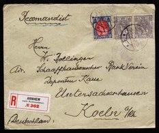 A5527) Niederlande Netherland R-Brief Arnhem 5.4.22 - 1891-1948 (Wilhelmine)