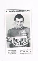 VANCAUWENBERGHE N.  Wielrenner Coureur Cycliste  Flandria - Radsport