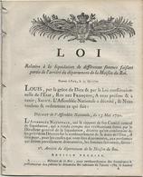 DECRET DE L'ASSEMBLEE NATIONALE  1791 -23 PAGES -LIQUIDATION DES ARRIERES MAISON DU ROI - Decrees & Laws