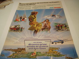 ANCIENNE PUBLICITE LIGNE AERIENNE AIR INTER 1979 - Advertisements