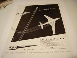 ANCIENNE PUBLICITE UTA COMETE PARIS-CASABLANCA 2H35 - Advertisements