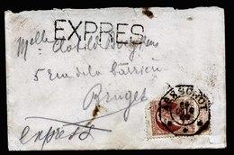 A5530) Belgien Belgium Express-Damenbrief 1909 - 1905 Grosse Barbe