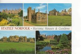 Postcard - Stately Norfolk Five Views - Used But Never Posted Very Good - Unclassified