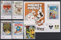 2102 Walt Disney Antigua & Barbuda ( MICKEY MOUSE MOVIE POSTERS ) 65 Th ANNIVERSY OF MICKEY MOUSE; - Disney