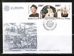 CEPT 1992 PL MI 3377-78 FDC POLAND - 1992