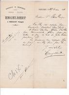 Lettre Commerciale épicerie, Mercerie, Chaussures Engelbert, Vrécourt (Vosges), 1901 - France