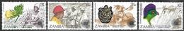 Zambia 1983   Sc#276-9   Commonwealth Day Set  MNH  2016 Scott Value $3.50 - Zambia (1965-...)