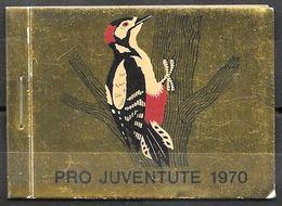 Schweiz Suisse Pro Juventute Heft Carnet 1970: Zu 232-235 Mi 936-939 Yv 868-871 ** MNH UNTER POSTPREIS - SOUS PR.POSTALE - Climbing Birds