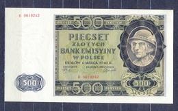 Poland  - 1940 - 500   Zlote.....P98.. UNC.. - Pologne