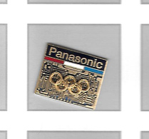 Pin's  Sport  Jeux  Olympiques  Avec  PANASONIC - Juegos Olímpicos