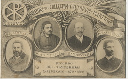 Ricordo Tricennali Collegium Culturum Martyrum Armellini Hytreck Marucchi Stevenson 1879  1909 Foto Danesi Roma - Vatican