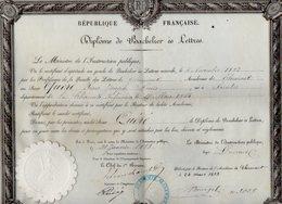 VP12.263 - PARIS X CLERMONT 1883 - Diplôme De Bachelier ès Lettres  - Mr QUERE Né à SAINTES - Partitions Musicales Anciennes