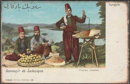 Fruitiers Israélites, Salonique, Turquie, C.1905-10 - Bader U/B CPA - Greece