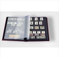 Classeur DIN A4, 64 Pages Noires, Couverture Ouatinée Soit 32 Pages Doubles Leuchturm - Albums Met Klemmetjes