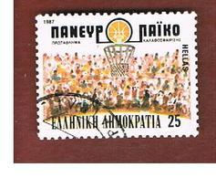 GRECIA (GREECE) - SG 1755  - 1987  EUROPEAN BASKETBALL - USED ° - Gebraucht